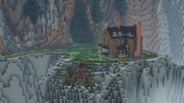 Victorian Cliffside House - Canada 1880 (1:1 scale) Minecraft Map & Project