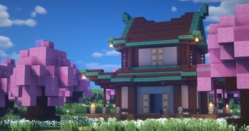Traditional Japanese House Minecraft Map & Project