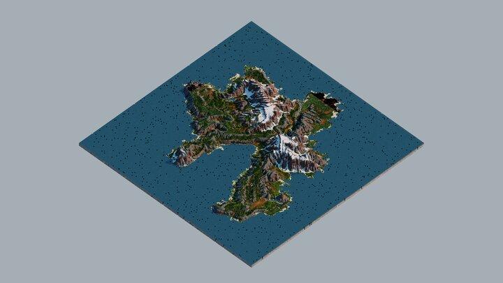 4k Minecraft Map Rokhall Overview