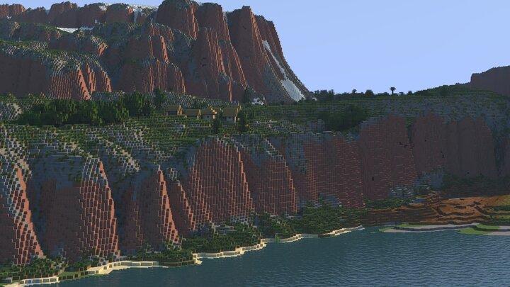 4k Minecraft Map Rokhall, Patreon Village View