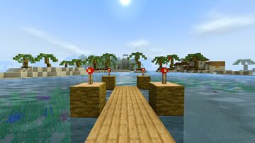 Tropical Island With Mayan Ruins, Spanish Fort, and Tiki Bar Minecraft Map & Project