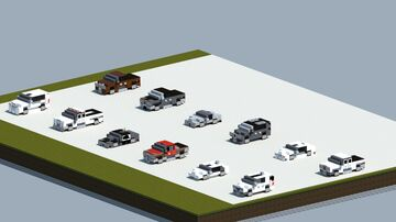 Dreamy's pack of cars and trucks #2 [With download] Minecraft Map & Project