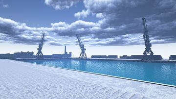Cargo Sea Port Minecraft Map & Project