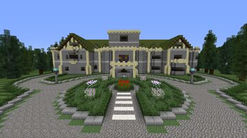 Hatley Castle - Xaviers school for gifted youngsters - Queen Mansion Minecraft Map & Project