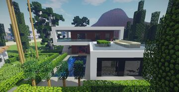 Modern House #16 + Schematic Minecraft Map & Project