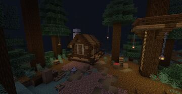 Simple Taiga House Minecraft Map & Project