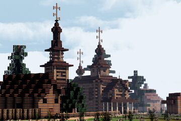 Smolenskiy Khram (Church of the Smolensk Icon of the Mother of God) , Skuchilikha, Suzdal, Russia Minecraft Map & Project