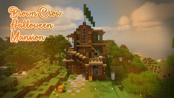 Brown Crow Halloween Mansion 🎃🧡 [1.16] Minecraft Map & Project