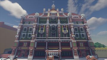 Art-Nouveau-Church (Jugendstilkirche) Minecraft Map & Project