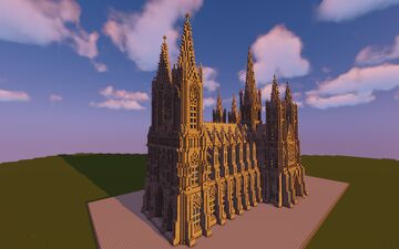 Gothic Cathedral St. Maria Magdalena Minecraft Map & Project