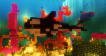 Killer Whales and Great White Sharks!! (and a Giant Crab for good measure) Minecraft Map & Project
