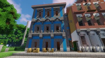 Small Cafe/Apartment Building Minecraft Map & Project