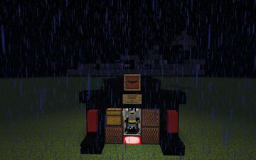 a working batwing from batman Minecraft Map & Project