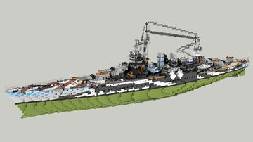 Italian Battleship Andrea Doria 1:1 Minecraft Map & Project