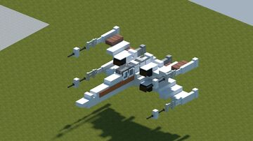 StarWars T-65B X-wing starfighter [With Download] Minecraft Map & Project