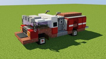 Pierce Impel Pumper Truck Minecraft Map & Project