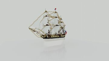 "Frigate class Sail Ship ""La Genereuse"" (ShipSide) Minecraft Map & Project"