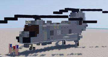 Boeing Vertol CH-46 Sea Knight Minecraft Map & Project