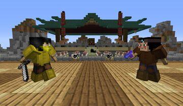 Mortal Kombat Shang Tsung's courtyard Minecraft Map & Project