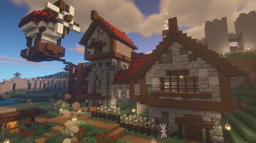 A Survival House/Base Minecraft Map & Project