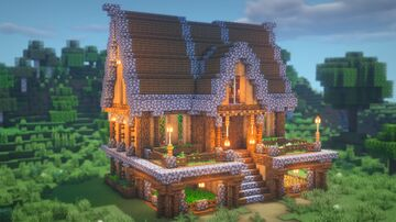 LARGE Wooden Mansion Minecraft Map & Project