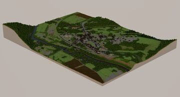Voutenay-sur-Cure Project - French village reproduction at 1:1 scale Minecraft Map & Project