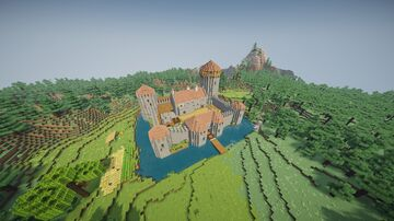 13th-Century Castle Minecraft Map & Project