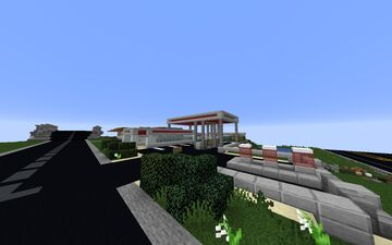 Gas Station - Post-Apocalyptic Build Minecraft Map & Project