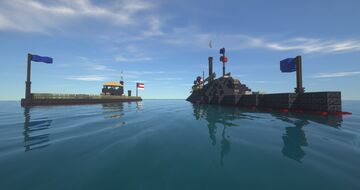 U.S.S. Monitor and C.S.S. Virginia Minecraft Map & Project