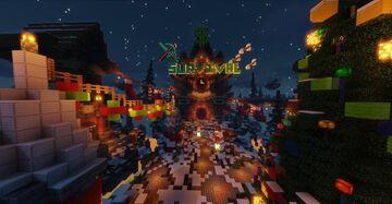 Christmas Themed Spawn/Lobby || HeavensCraft Spawn || Hidden Admin Area Minecraft Map & Project