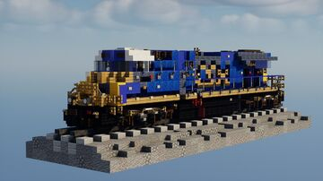 1.5:1 Scale CSX GE ES44AC-H Minecraft Map & Project