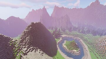 Mountainous Island Minecraft Map & Project