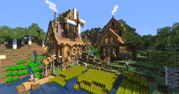 Transforming a Survival Starter House Minecraft Map & Project