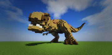 Dangerous T-rex Minecraft Map & Project