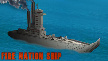 Avatar: Fire nation Warship Minecraft Map & Project