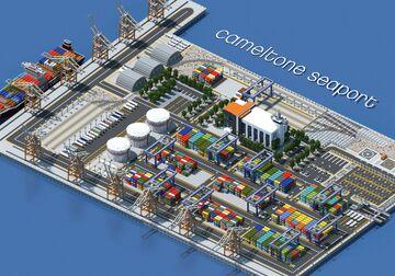 Dalenberg Seaport | 1000x600 blocks Minecraft Map & Project