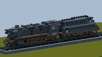 DB Class 44 steam locomotive [With download] Minecraft Map & Project