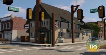 New England Rural Diner | Dawson Creek | TRS Minecraft Map & Project