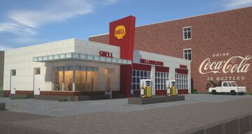 Shell Service Station Minecraft Map & Project