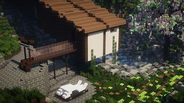 Remastered Japanese Stilt House Minecraft Map & Project