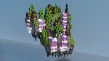 The Purple Falls - (Another) Floating Island! :D Minecraft Map & Project