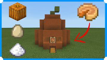 How To Build A Pumpkin Pie Farm v2.0 [Minecraft Bedrock Edition] Minecraft Map & Project