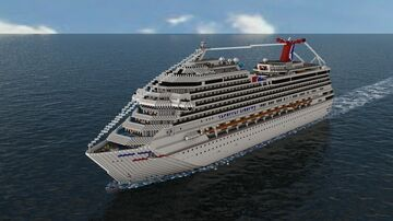 Carnival Liberty (2005 (1:1 Scale) (Full Interior) (15 YEAR ANNIVERSARY) Minecraft Map & Project