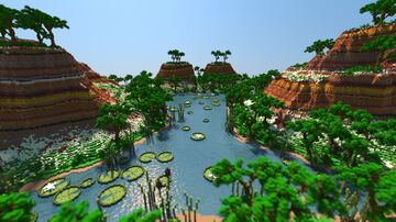 High Fantasy Terrace Landscape Minecraft Map & Project
