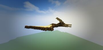 Pterodactyl, the flying reptile Minecraft Map & Project