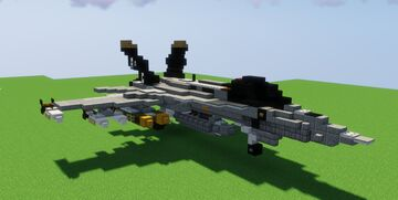 (2:1 Scale Naval Fighter Jet) McDonnell Douglas F/A-18 Hornet Minecraft Map & Project