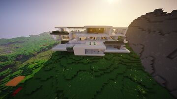 Old Modern Mansion Build Minecraft Map & Project