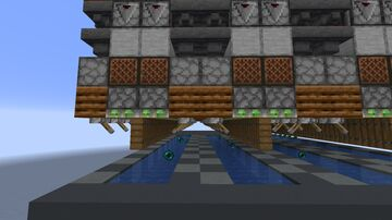 Compact Binary Enderpearl Stasis Chamber Minecraft Map & Project