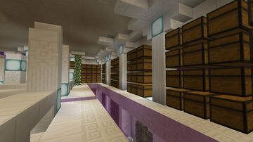 Underground purple storehouse! Minecraft Map & Project
