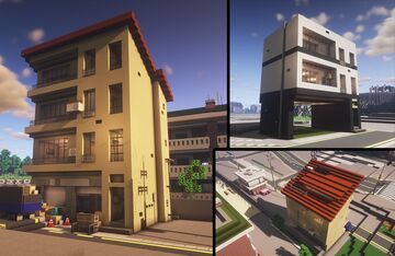 Recycling center building + 2 remodeling Minecraft Map & Project